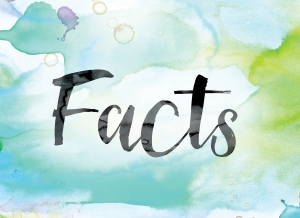 Facts Colorful Watercolor and Ink Word Art