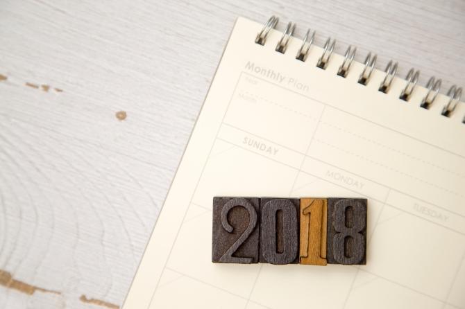 2018 with a Blank Calendar